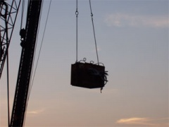 crane and crate