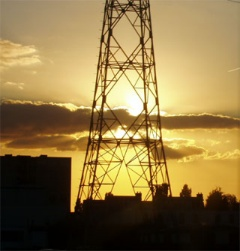 towering sunset