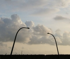 streetlights clouds