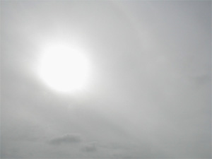 sun through clouds